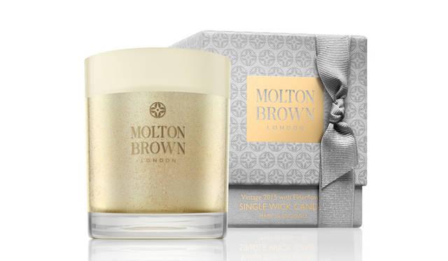 <strong>MOLTON BROWN モルトンブラウン</strong><br />「ヴィンテージ2015 エルダーフラワーコレクション」 ヴィンテージ2015 エルダーフラワー シングルウィック キャンドル(燃焼時間:約30~40時間)8640円