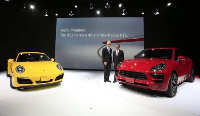 ポルシェは、「911カレラ4 / 4S」と「マカンGTS」の2台をワールドプレミア