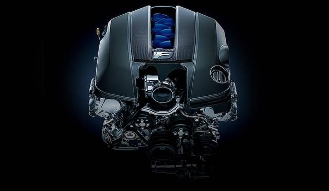 2UR-GSE型のV8自然吸気エンジン