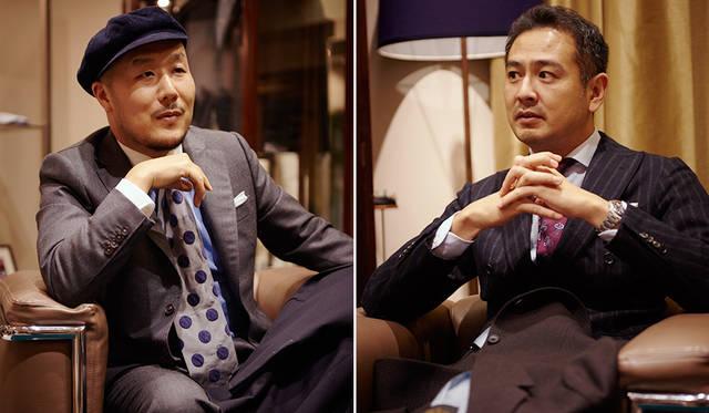 (写真左より)MEN'S Preciousファッションディレクター 山下 英介氏、MEN'S EX 大野 陽編集長