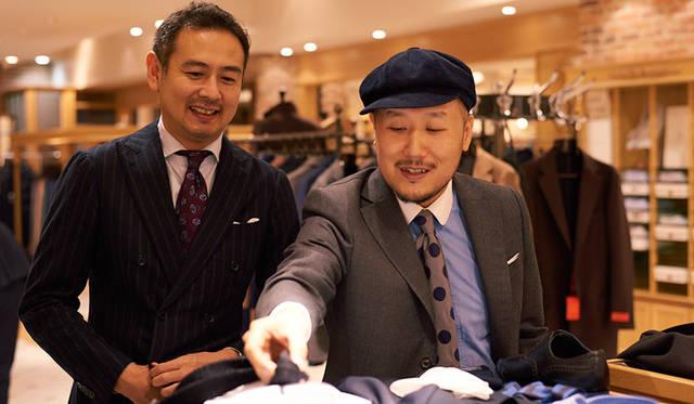 (写真左より)MEN'S EX 大野 陽編集長、MEN'S Preciousファッションディレクター 山下 英介氏