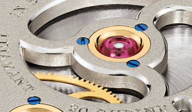 <strong>1815 トゥールビヨン ハンドヴェルクスクンスト</strong><br /> ケース|18Kピンクゴールド<br /> 直径|39.5mm<br /> 厚さ|11.1mm<br /> ムーブメント|手巻き(Cal.L102.1)<br /> 機能|トゥールビヨン(ストップセコンド機能、ゼロリセット機能付き)<br /> ストラップ|アリゲーター<br /> 防水|3気圧<br /> 限定数|30本<br /> 価格|2405万1600円