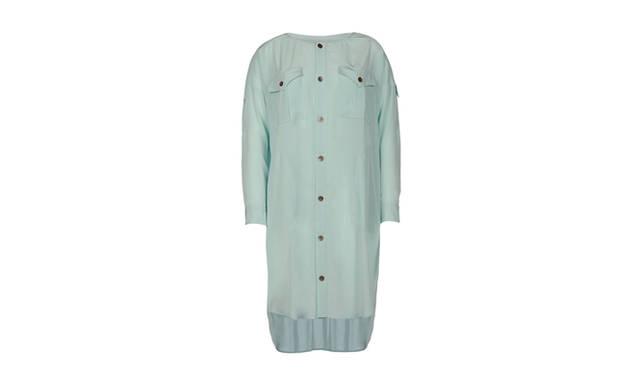 <strong>yoox.comでドメスティックブランドにフォーカス!</strong> 2012 S/S コレクションのテーマでもあるシャーベットカラーが美しいミントグリーンのG.V.G.V.のシャツワンピース