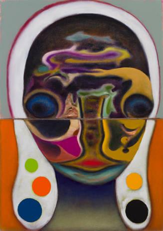 「無題」カンヴァスに油彩 103.5 x 73 cm 2019 年 Photo: Kei Okano ©2019 Izumi Kato。原美術館に展示予定