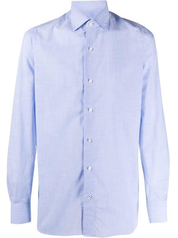 ISAIA ポインテッドカラーシャツ 3万5800円(輸入関税込み・参考価格)