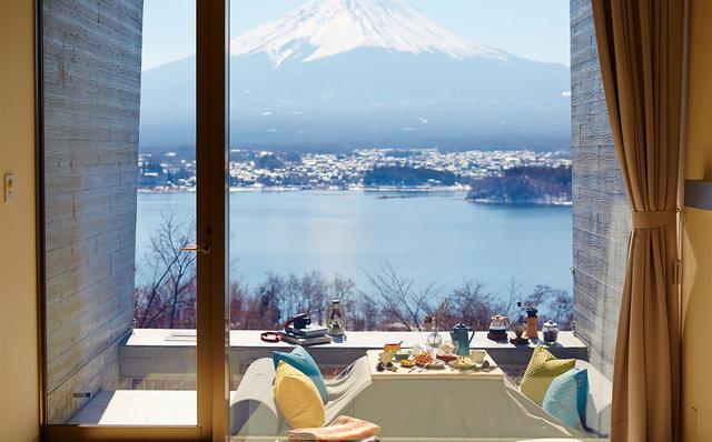 星のや富士 キャビンより富士山