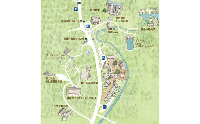 星野リゾート 地図