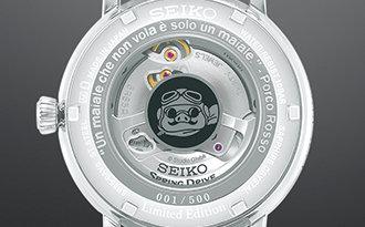 セイコー プレザージュ×スタジオジブリ『紅の豚』をモチーフとした数量限定モデル ケースバック