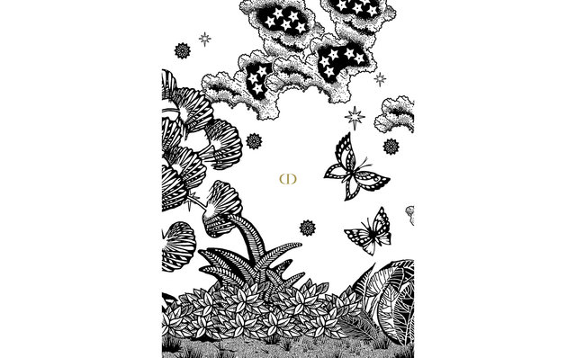 ディオール 塗り絵「A COLORING BOOK」