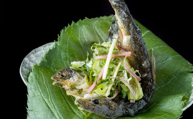「日本料理 嘉助」ウグイ南蛮