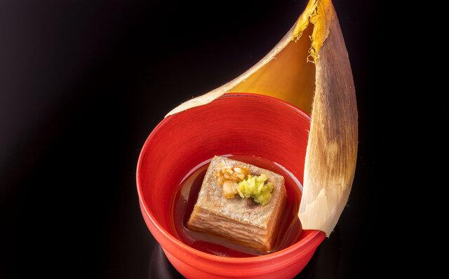 「日本料理 嘉助」ふきのとう豆腐