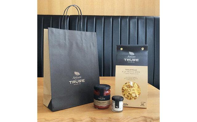 ミニトリュフ塩、トリュフ入りトマトソースとタリアテッレパスタの詰め合わせセット