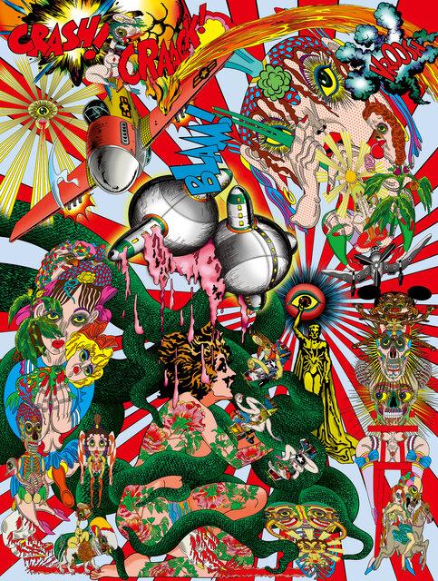 田名網敬一氏 新作個展 「Mirror Image Machine」(2020 )