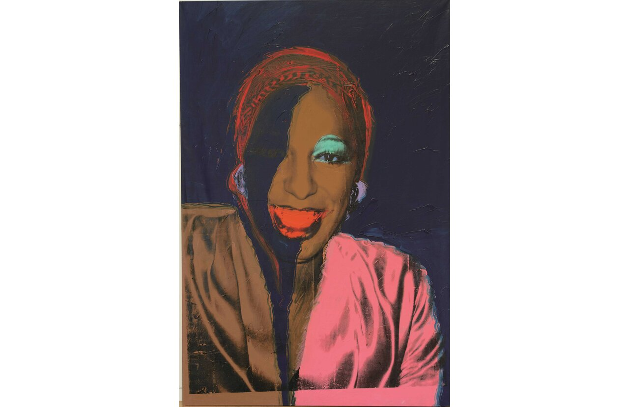 Andy Warhol, Ladies & Gentlemen(1975) Acrylique et encre serigraphique sur toile  Acrylic and silkscreen ink on canvas  305 x 205 cm   ©The Andy Warhol Foundation for the Visual Arts, Inc/ Licensed by Adagp Paris, 2020