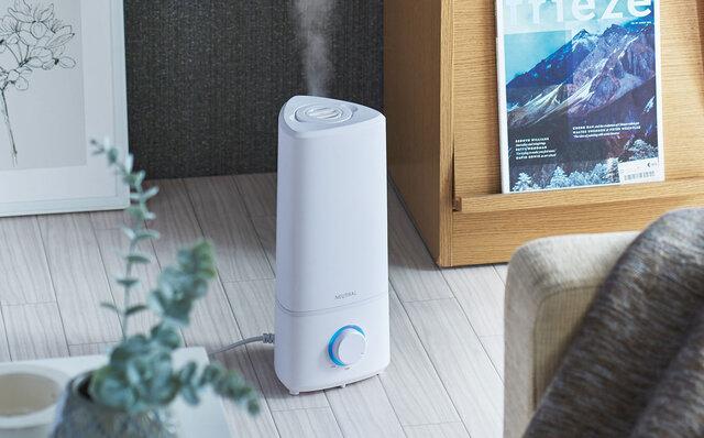 広い空間もパワフルに加湿。ミストと香りを同時に楽しめる超音波加湿器