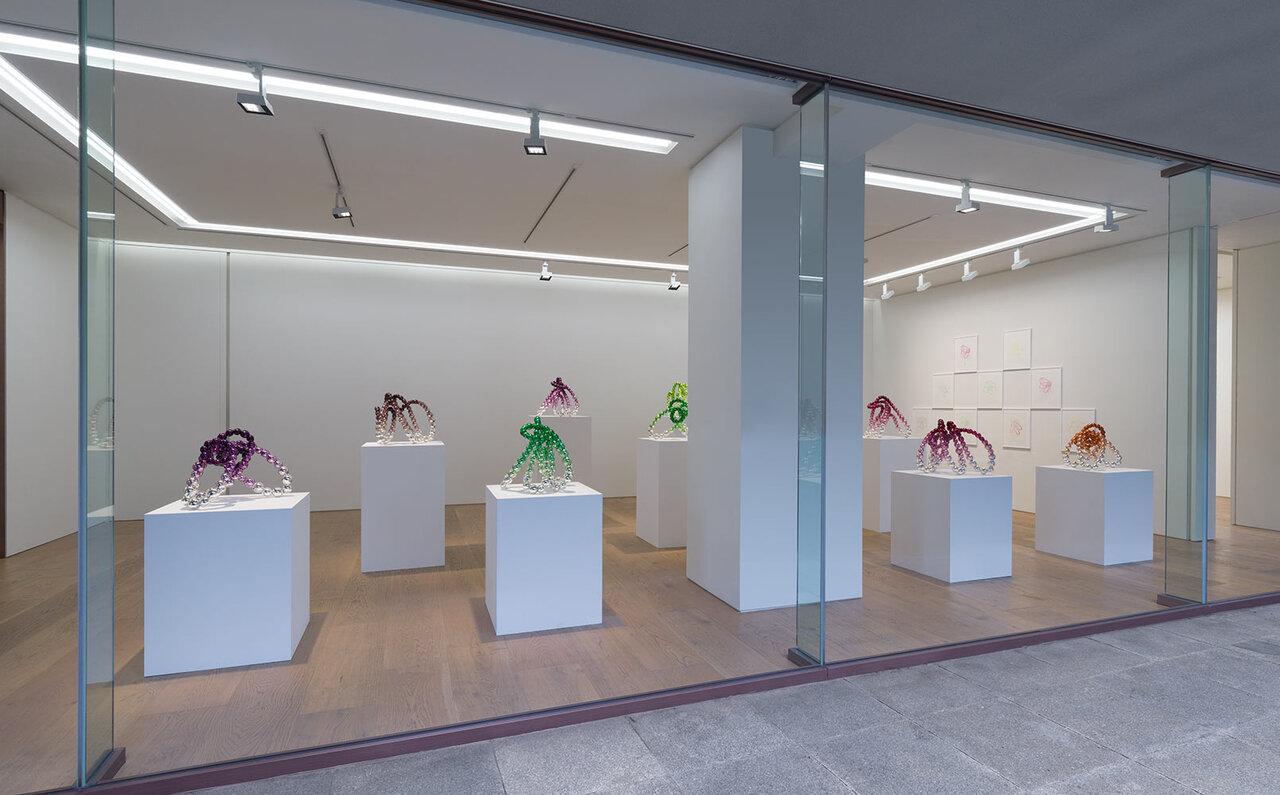 "View of the exhibition ""夢路 – Dream Road"" at Perrotin Tokyo, 2020 Photographer: Kei Okano Courtesy of Perrotin"