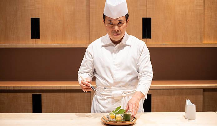 星のや京都の総料理長・久保田一郎氏。