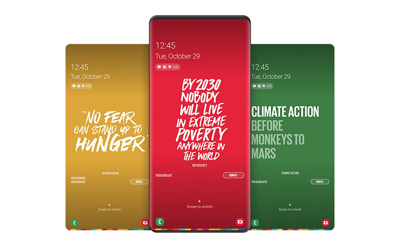 Galaxyのスマートフォン用SDGsアプリ「THE GLOBAL GOALS」