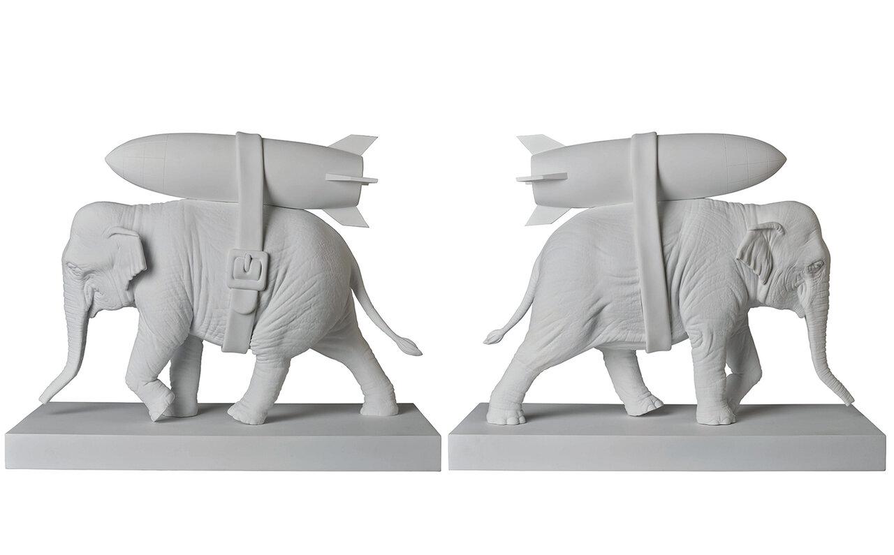 Elephant with Bomb