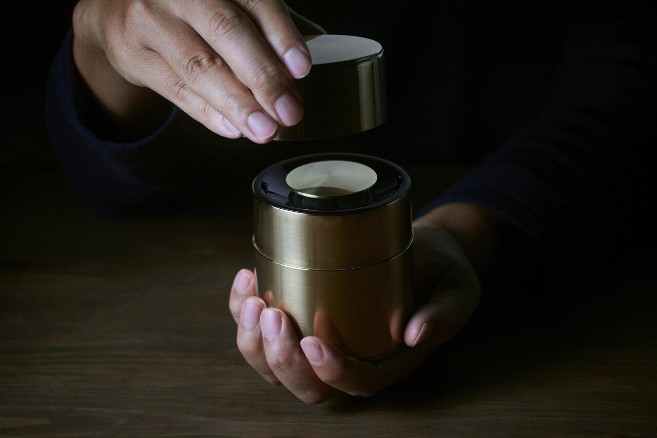 パナソニックとのコラボレーションにから生まれた茶筒スピーカー