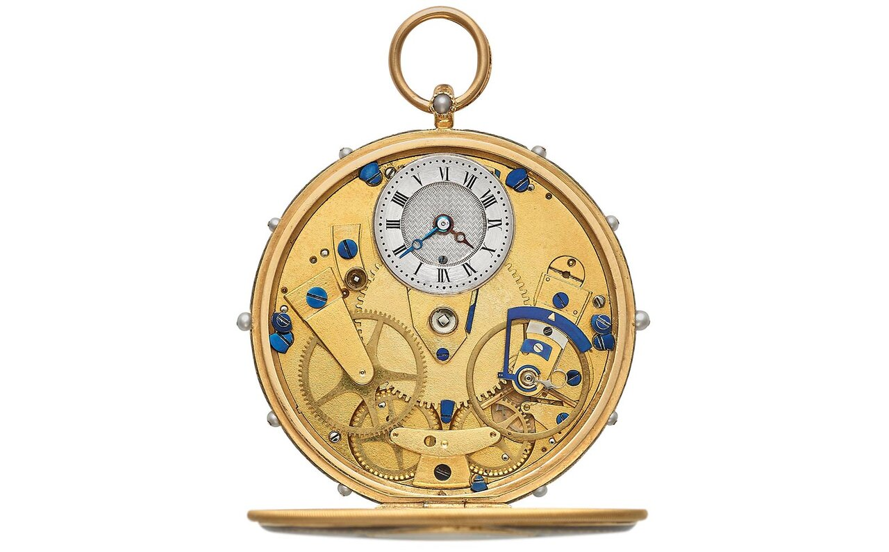 アブラアン-ルイ・ブレゲが考案したヒストリカルモデル「タクトウォッチ」No.2292 1809年販売。(非売品)