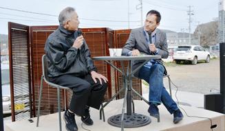 伝説の大船頭・前川渡さんと俳優・渡辺謙さんの対談