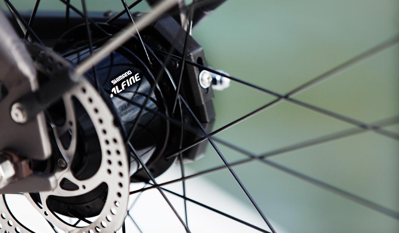 VANMOOFの自転車に搭載された変速ギア
