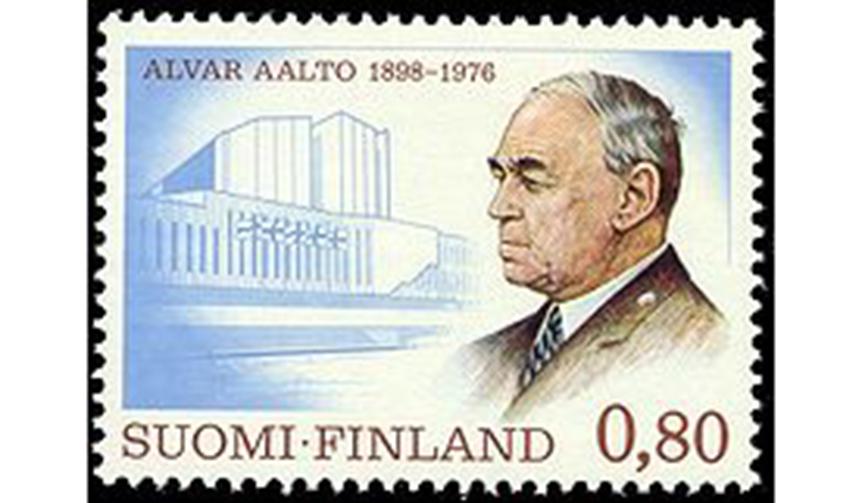 切手にもなった著名な建築家アルヴァ・アアルト氏(ウィキペディアより引用)