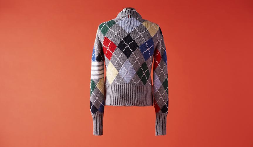 vol.3 クルーネックの柄セーター THOM BROWNE|トム ブラウン