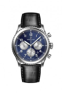 Navitimer-8-B01-with-blue-dial-and-black-alligator-leather-strap