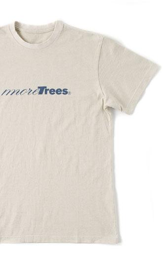 天然素材のみを使用した贅たくな1枚──<br>more trees オーガニックコットン Tシャツの限定販売スタート