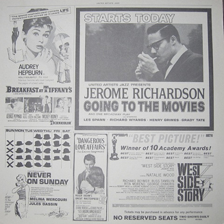 Jerome Richardson 『GOING TO THE MOVIES』