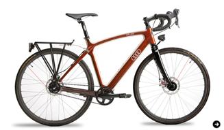 Audi duo アウディ デュオ 木製フレームの自転車 02