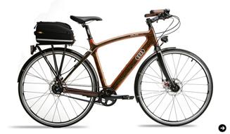 Audi duo アウディ デュオ 木製フレームの自転車 03
