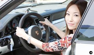 清水久美子のポルシェ911体験 Porsche 03