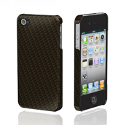 Ultima Series Real Carbon Case for iPhone 4/4S Black