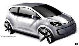 Volkswagen up!|フォルクスワーゲン アップ! デザインスケッチ