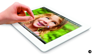 同時に発表された、第4世代のiPad