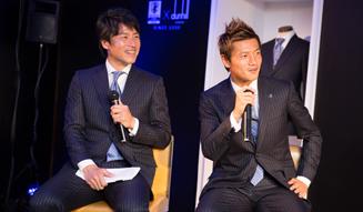 "dunhill|サッカー日本代表公式スーツ""勝負服""ローンチイベント05"