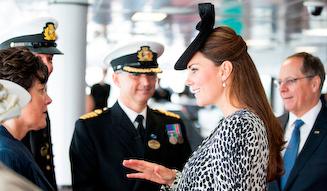 命名式に出席した、ケンブリッジ公爵夫人キャサリン妃殿下
