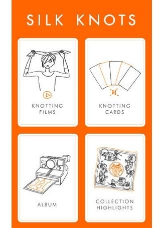 スカーフをもっと楽しむエルメスのアプリ「SILK KNOTS」 01