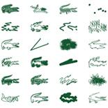 ピーター・サヴィルが描く80匹のクレイジーなワニ
