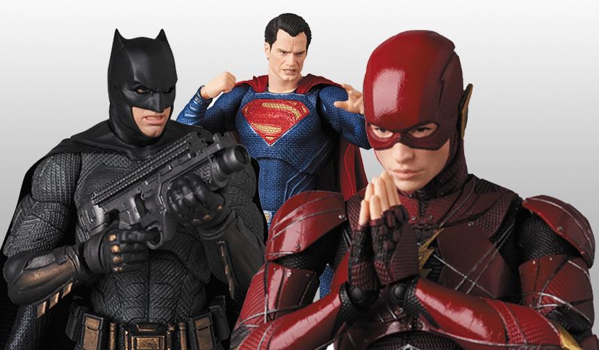 MAFEX  バットマン、スーパーマン、フラッシュ