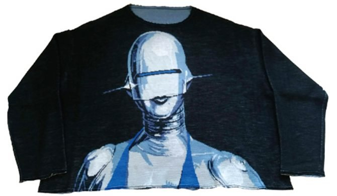 CREW NECK SWEATER 'SEXY ROBOT'