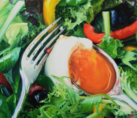 「サラダD」 10F(油彩・キャンバス) 2008年。