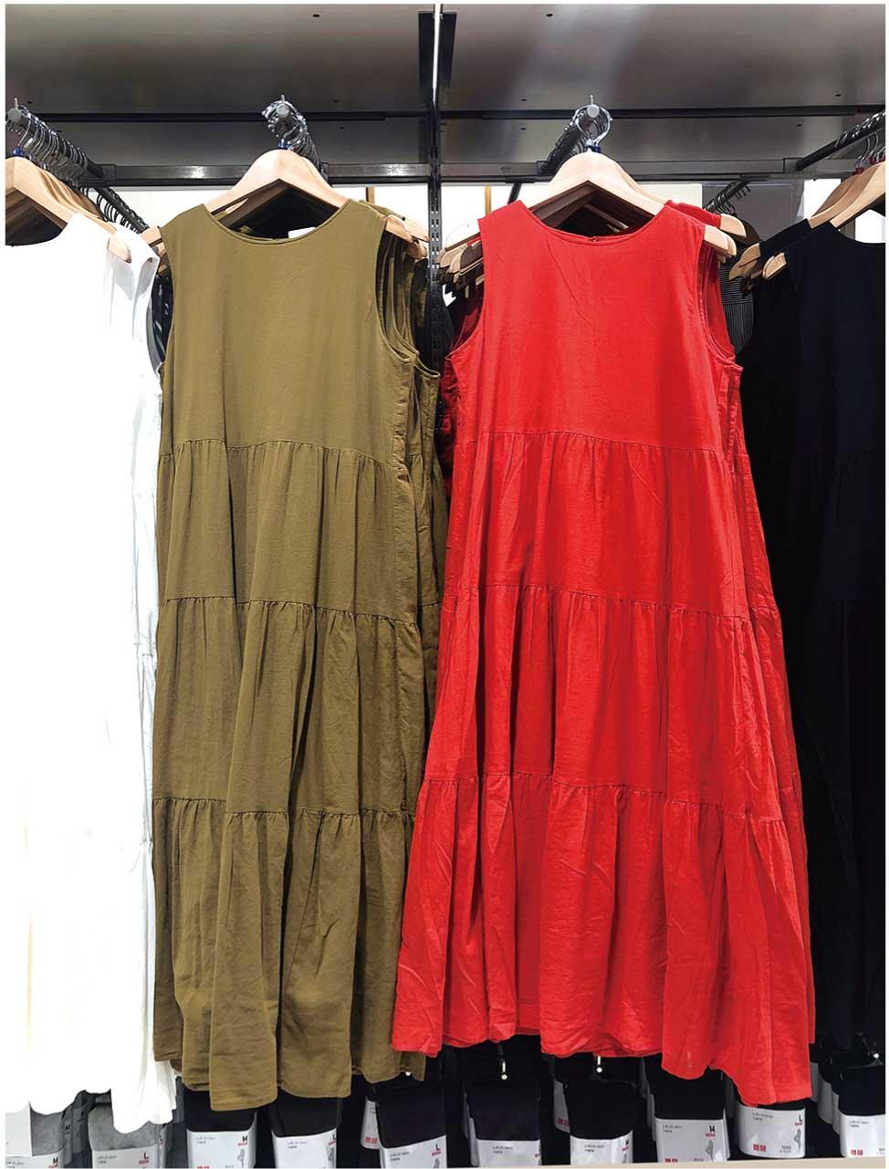 【ファッション】Aラインとギャザーで体形隠し 「ティアードワンピ」