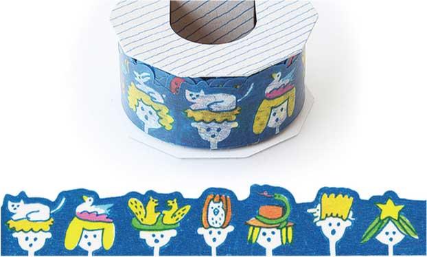 【学び・余暇】プレゼントや手紙の飾りに人気「型抜きマスキングテープ」(2017年12月号)