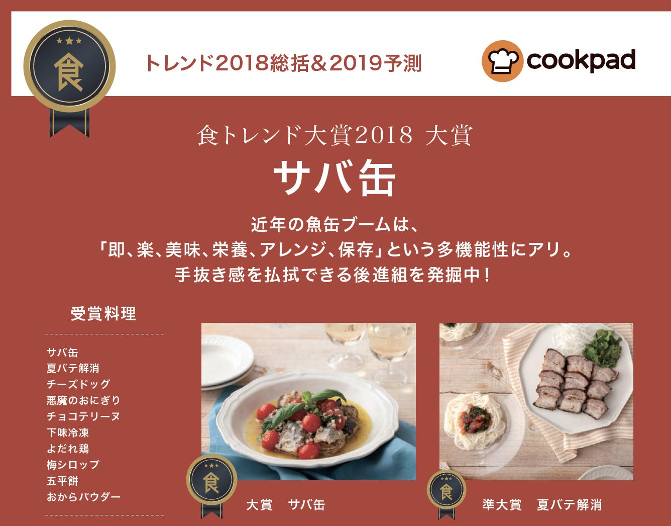 【特集】【食】トレンド2018総括&2019予測 cookpad(2019年1月号)