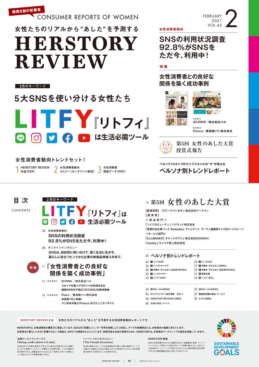 2021年2月の女性消費者キーワード 「LITFY『リトフィ』」発表!