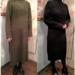 【ファッション】着やせ効果が期待できる 「ロングニットワンピース」